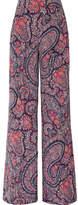 Etro Printed Silk Crepe De Chine Wide-leg Pants - Black
