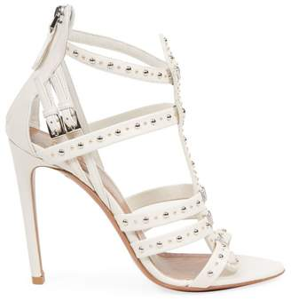 Alaia Studded Leather Cage Sandals