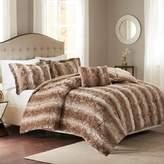 Madison Park Zuria Faux Fur Comforter Set