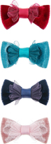 Monsoon 4x Velvet Bow Hair Clips