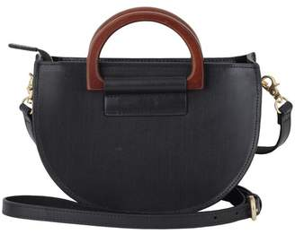 Most Wanted Design by Carlos Souza Wooden D-Ring Leather Crossbody Bag