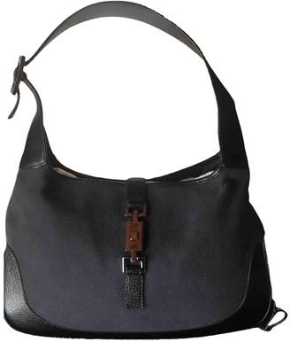 Gucci Jackie Vintage Black Suede Handbags