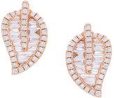 Anita Ko small leaf stud diamond earrings