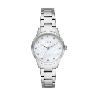 Elle Molitor Three-Hand Stainless Steel Watch