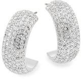 Swarovski Palace Crystal Pavé Wide Hoop Earrings