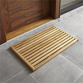 Crate & Barrel Teak Mat