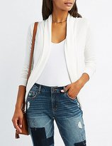Charlotte Russe Open-Front Cocoon Cardigan