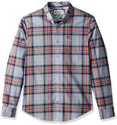 Original Penguin Men's Long Sleeve Heather Stretch P55 Plaid