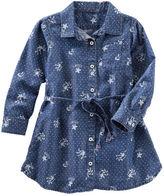 Osh Kosh Floral Print Denim Dress