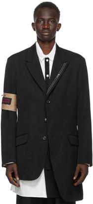 Yohji Yamamoto Black Wool Twill Blazer