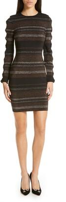Ted Baker Simona Metallic Stripe Bodycon Dress