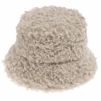 Dflyhlh Outdoor Warm Lamb Faux Fur Bucket Hat Black Solid Fluffy Fishing Panama Fisherman Cap Women Winter Beige