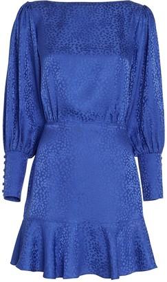 Intermix Nicola Cheetah Jacquard Silk Dress