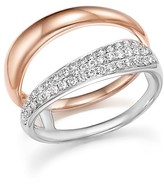 Bloomingdale's Diamond Pavé Double Row Band in 14K White and Rose Gold, .35 ct. t.w.