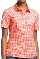 Icebreaker Destiny Check Shirt - UPF 30+, Merino Wool, Short Sleeve (For Women)