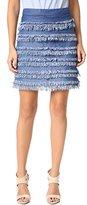 Ella Moss Women's Alina Fringe Mini Skirt