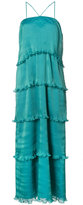 Zac Posen Bay pleated tiered gown - women - Polyester/polyester - 0