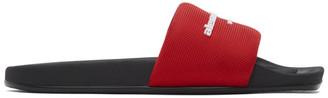 Alexander Wang Red Rubber Logo Pool Slides