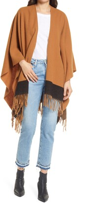 Rag & Bone Colorblock Wool Poncho