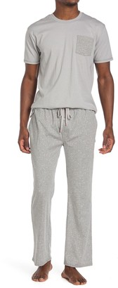 Hawke & Co Short Sleeve Print Luxe T-Shirt & Pants Pajama 2-Piece Set