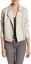 Cupcakes And Cashmere Faux Leather Zip Long Sleeve Jacket