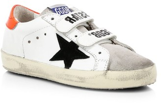 Golden Goose Baby's & Little Boy's Old School Star Embroidered Leather Sneakers