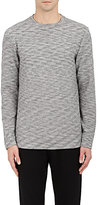 Barneys New York MEN'S MARLED COTTON-BLEND LONG-SLEEVE T-SHIRT