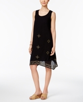 Style&Co. Style & Co Style & Co Petite Cotton Embroidered Swing Dress, Created for Macy's