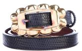 Kieselstein-Cord Art Bronze Lizard Belt