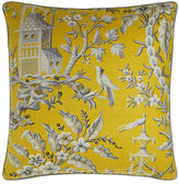 "Legacy Pagoda Garden Toile Pillow, 22""Sq."