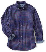 Daniel Cremieux Big & Tall Exploded Check Oxford Long-Sleeve Woven Shirt