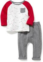Old Navy 2-Piece Raglan Tee and Pants Set for Baby