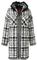 Moncler Women's White/black Wool Coat.
