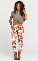 MUMU Sahara Sweatpants ~ Cream Floral Waffle
