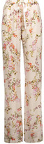 Alexis Seraphine Floral-Print Satin Wide-Leg Pants