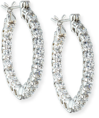 FANTASIA CZ Crystal Infinity Hoop Earrings