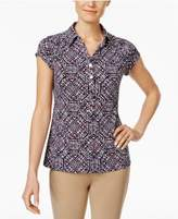 Charter Club Print Polo Top, Only at Macy's