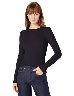 Lark & Ro Amazon Brand Women's Slim Fit Ribbed Puff Sleeve Sweater