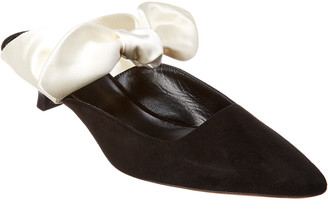 The Row Coco Suede & Satin Mule