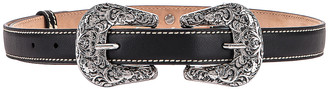 Acne Studios Double Buckle Belt in Black | FWRD