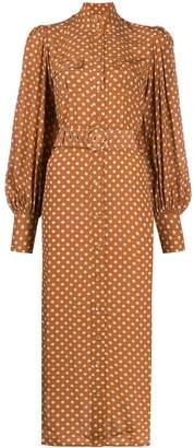 Zimmermann polka-dot print silk dress