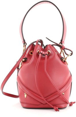 Fendi Monster Mon Tresor Bucket Bag Leather Mini