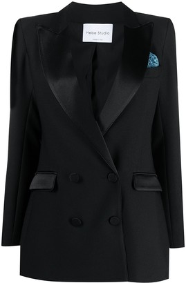 Hebe Studio Double-Breasted Blazer
