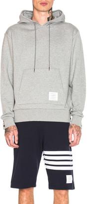 Thom Browne Back Stripe Hoodie in Light Grey   FWRD