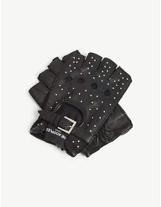The Kooples Studded fingerless leather gloves