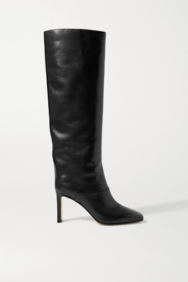 Jimmy Choo Mahesa 85 Leather Knee Boots - Black