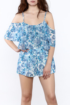 Show Me Your Mumu Blue Chiffon Romper