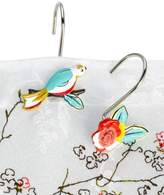 Lenox Simply Fine Bath Accessories, Chirp Shower Curtain Hooks, Set of 12