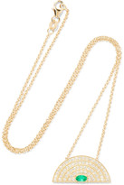 Andrea Fohrman Rainbow 18-karat Gold, Diamond And Emerald Necklace - one size