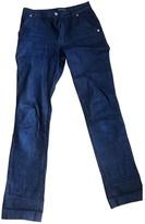 Vanessa Seward Navy Cotton Jeans for Women